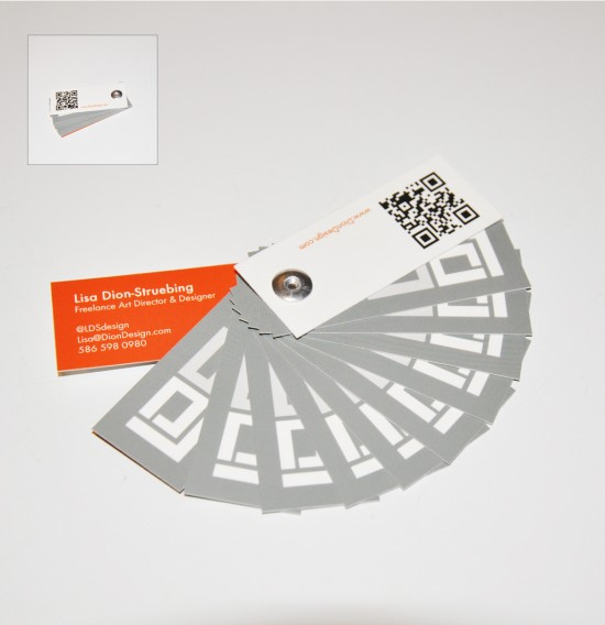 mini portfolio business card design