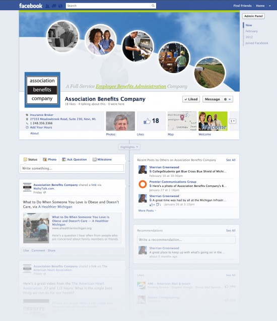 Association Benefits Company Small Business Facebook Timeline Page