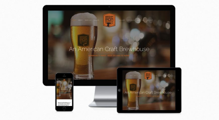 Brown Iron Brewhouse Web Site
