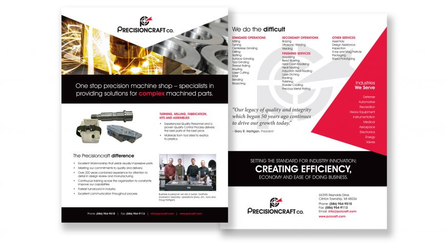 Precisioncraft Co. Flyer
