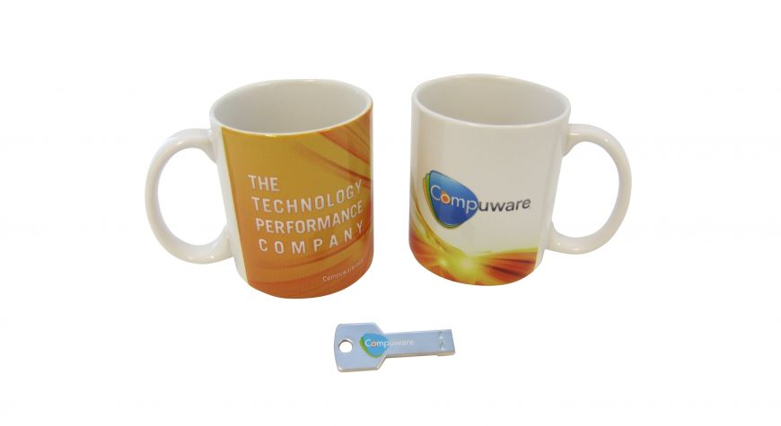 Compuware Mugs and USB